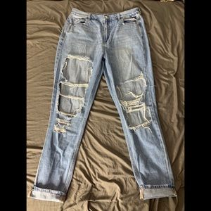 American Eagle Mom Jeans size 14 extra long
